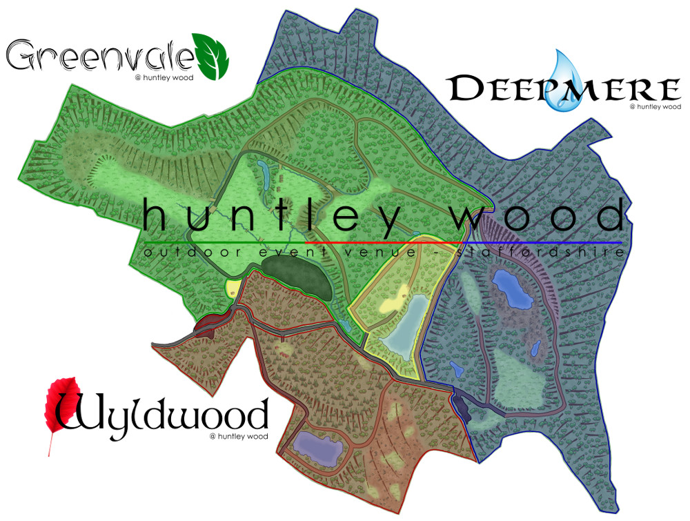 Huntley Wood Map