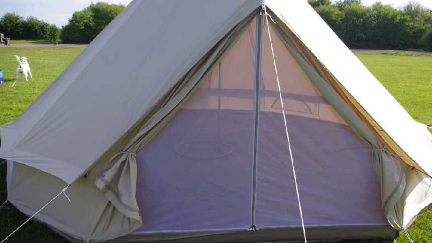 Our Bell Tents are made from 285gsm² 100% cotton fabric protected u0026 sealed by a water proof coating to ensure the inside of the tent is waterproof during ... & Bell Tent Hire u2022 Huntley Wood