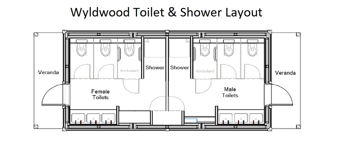 Wyldwood Toilet & Shower Layout