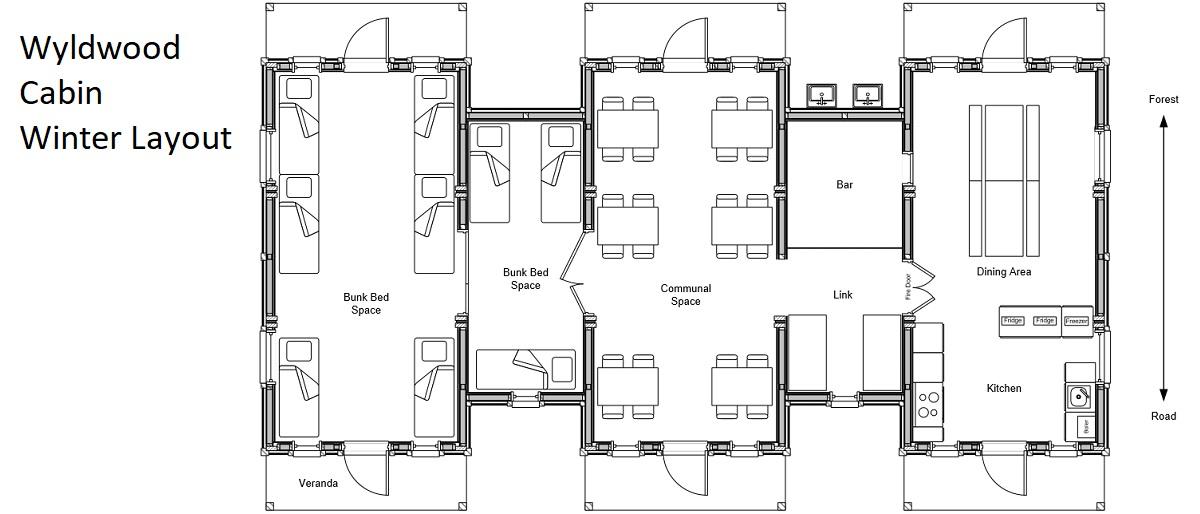 Wyldwood Cabins Winter Layout